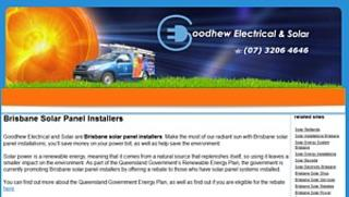 Goodhew Electrical and Solar : Brisbane solar panel installers. Based in Thornton : Phone 07 3206 4646