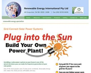 REI - Renewable Energy International Perth - Ph 08 6555 2408