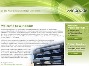 Windpods wind turbines - unique wind harvesting technology -  Ph 02 8898 9735