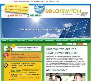 Solar Switch NSW, QLD, ACT & VIC - PHONE 1300 880 969
